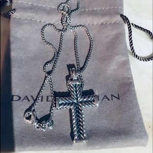 David Yurman Chevron Cross W 20 inch Chain